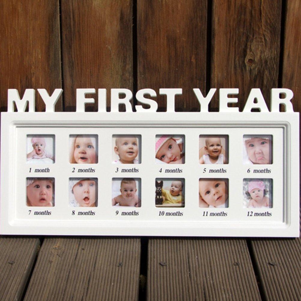 Baby Bilderrahmen aus Holz Kinder Fotorahmen \