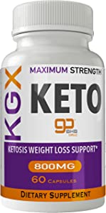 KGX Keto Pills 800 Advanced Energy Ketones with Go BHB Capsules Ketones Ketogenic Supplement for Weight Loss Pills 60 Capsules 800 MG GO BHB Salts