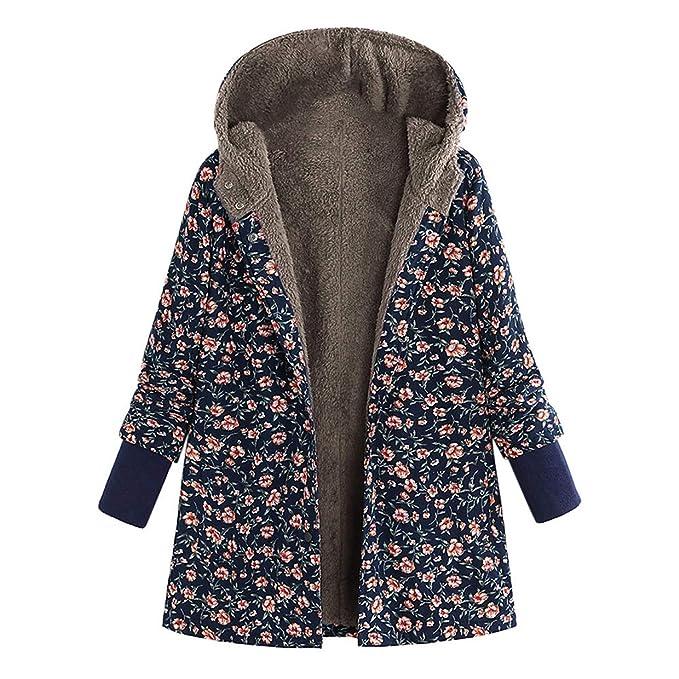 Abrigo Mujer Invierno Rebajas Impreso más Grueso Chaqueta EUZeo Suéter Abrigo Jersey Espesar Prendas de Cardigan