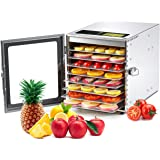 Colzer Food Dehydrator Machine(67 Free Recipes) 8 Stainless Steel Trays Adjustable Thermostat Digital Food Dehydrator…