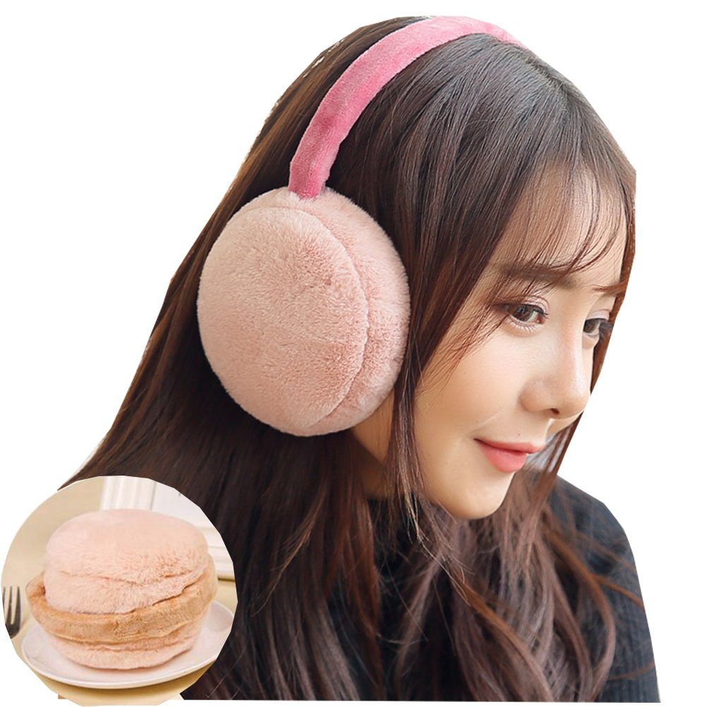 OKSakady Women Men Foldable Earmuffs Cozy Warm Faux Fur Ear Muffs