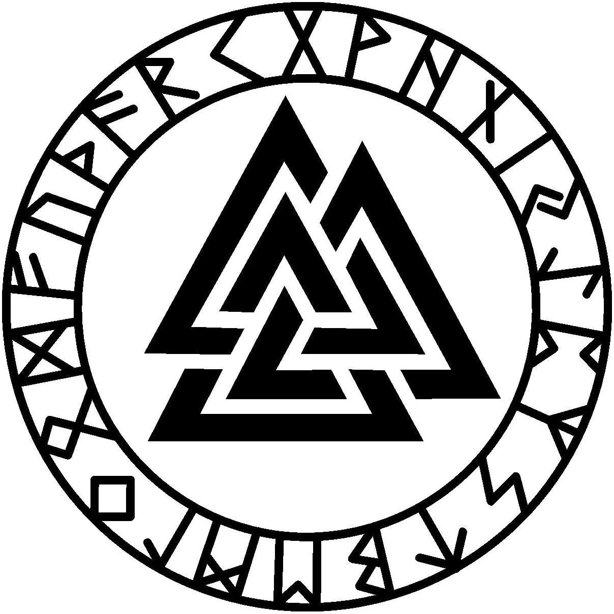 Samunshi Aufkleber Valknut Mit Runen 3 Vikings Wikinger Für Auto Motorrad In 11 Größen Und 25 Farben 10x10cm Schwarz Küche Haushalt