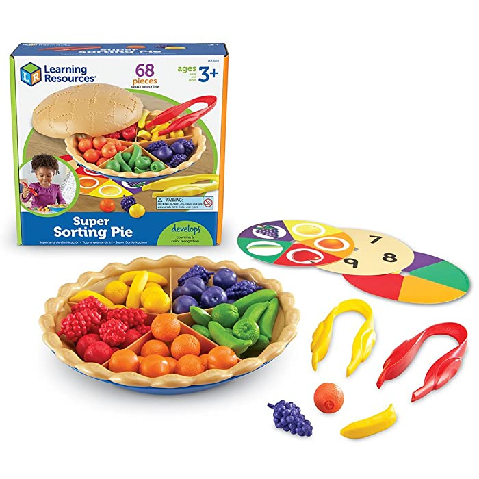 Learning Resources Super Sorting Pie, Fine Motor Toy, Early Number, Patterns, 68 Pieces, Grades Pre-K/Ages 3+