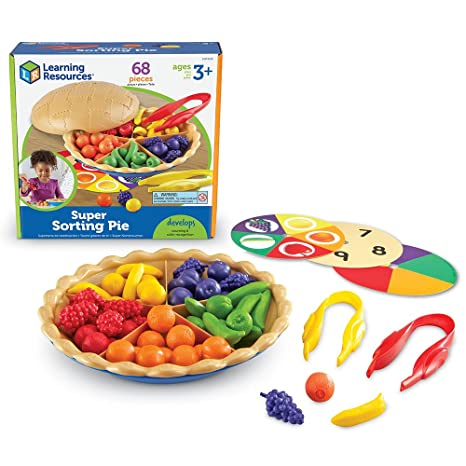 amazon com learning resources super sorting pie 68 pieces toys