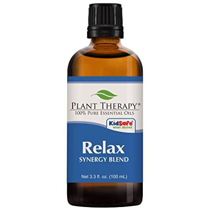 Plant Therapy Relax Synergy Essential Oil 100 M L (3.3 Oz) 100 Percents Pure, Undiluted, Therapeutic Grade by Plant Therapy