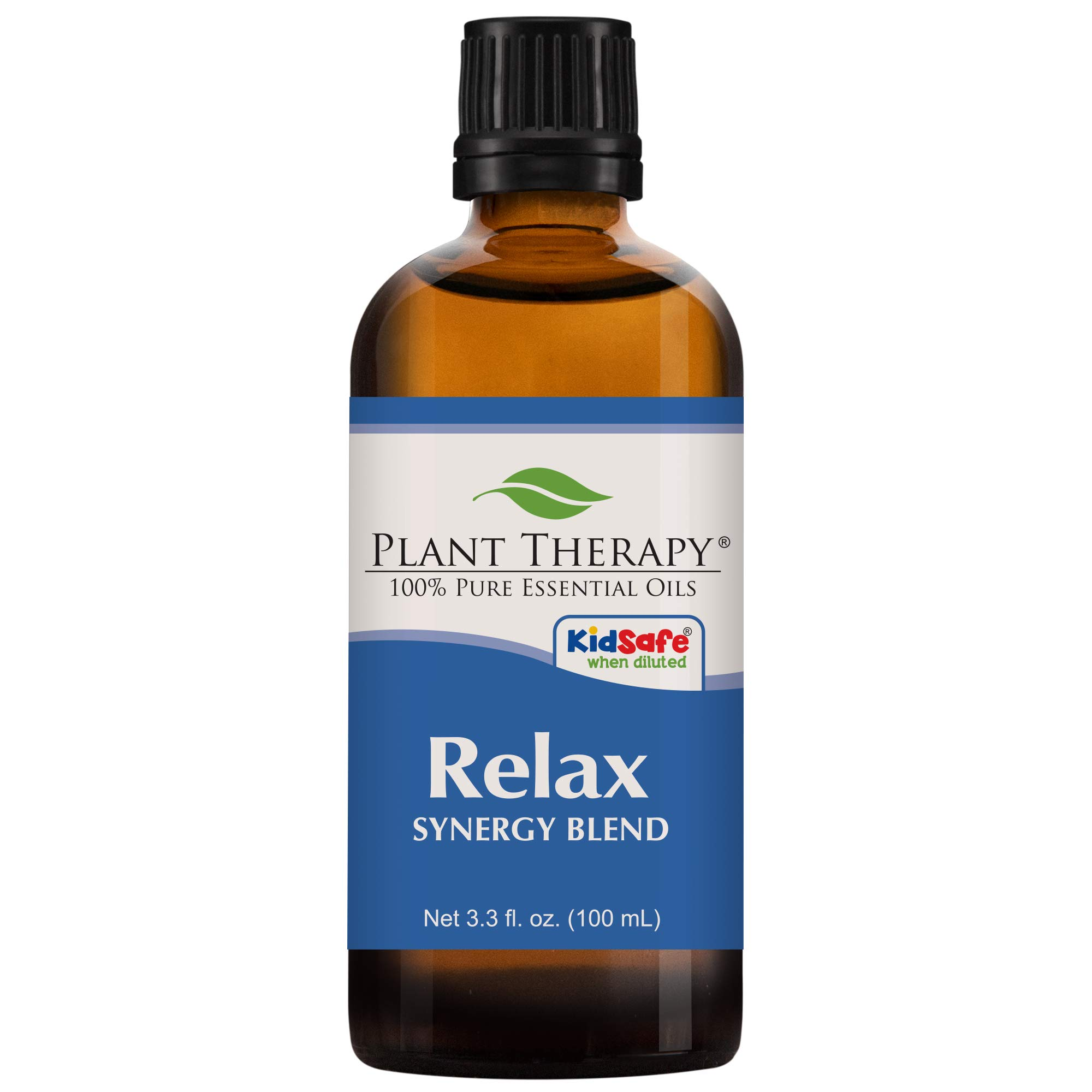 Plant Therapy Essential Oil | Relax Synergy | Sleep & Stress Blend | 100% Pure, Undiluted, Natural Aromatherapy, Therapeutic Grade | 100 Milliliter (3.3 Ounce)