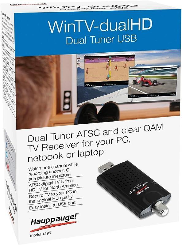 HAUPPAUGE WinTV-DualHD Dual USB 2.0 HD TV Tuner for Windows PC 1595,Black