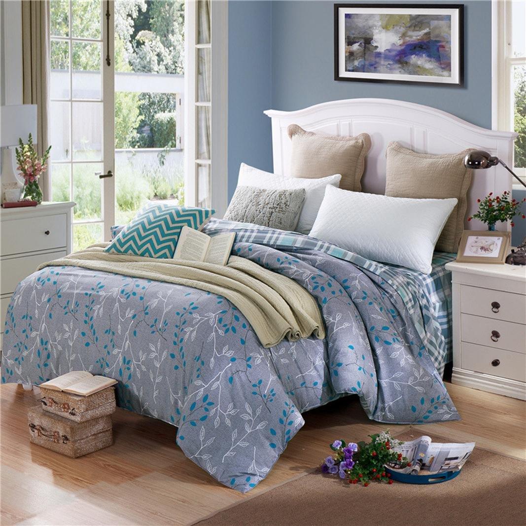 Pure cotton Bedding 4-Piece Set Modern comfort and durability Duvet Cover Bedding Set?Queen by MiZuJ (Image #2)
