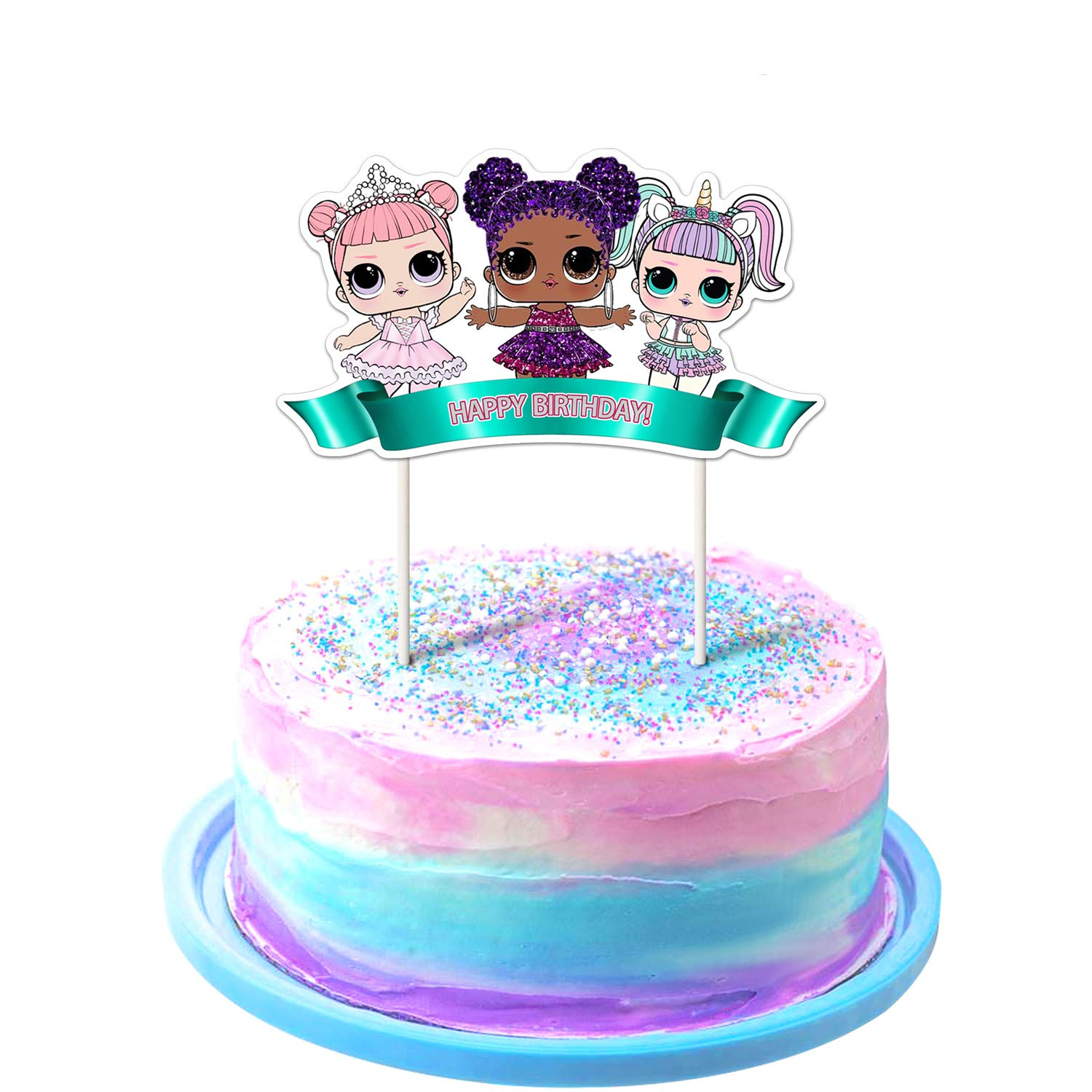 LOL Cake Topper 1st Birthday Toppers Cute Girls Dolls Bday Decorations Theme Party