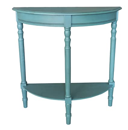 Amazoncom Urbanest Salem Accent Half Table Teal Kitchen Dining