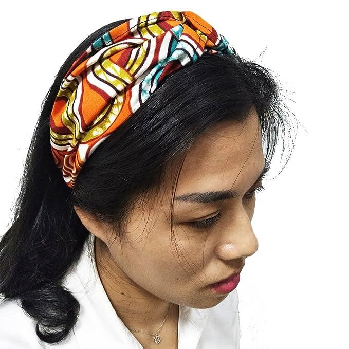 HongyuAmy Fasce per capelli stampati africani stampa elastica avvolgere la  testa avvolgere turbante torsione accessori per b5dcfb2d021f