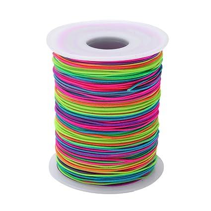 Amazon.com  Senkary 1 mm Elastic Cord String Beading Thread Stretch ... 13207e3674a7