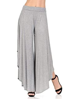 Damen Haremshose Elastische Taille High Waist Loose Irregular Weiten Bein  Hose Mode Marken Elegante Freizeit Fashion 56434ec46c