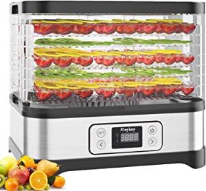 Food Dehydrator Machine, 400W Electric Fruit Dryer with 8 Trays, Digital Timer and Temperature Control, for Jerky/Meat/Beef/Vegetable