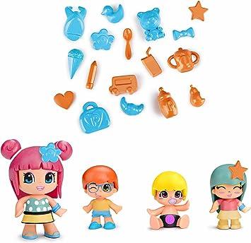 Pinypon Pack de 4 figuras bebés (Famosa 700014101): Amazon.es ...