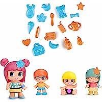 Pinypon - 700014101 - Enfants et Bébés, Paquet de 4 Figurines (Famosa)