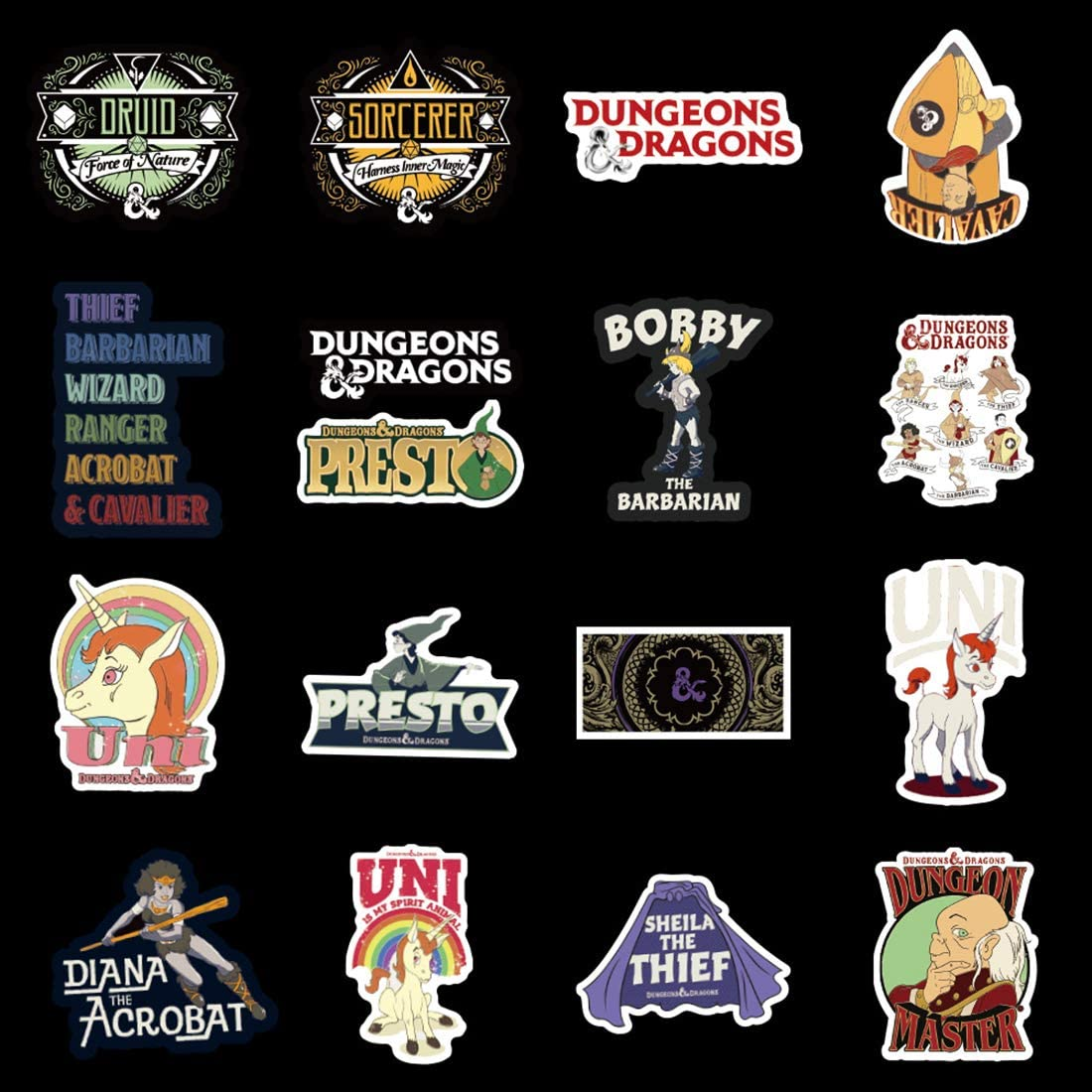 No-Duplicate Sticker Pack HJKT SEBADA 50Pcs Dungeons /& Dragons Stickers for Laptop Motorcycle Bicycle Skateboard Luggage Decal Graffiti Patches