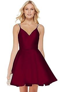 4a8cfaf68da Beauty Bridal Junior s V Neck Homecoming Dress Satin Prom Dresses Short  2019 J91