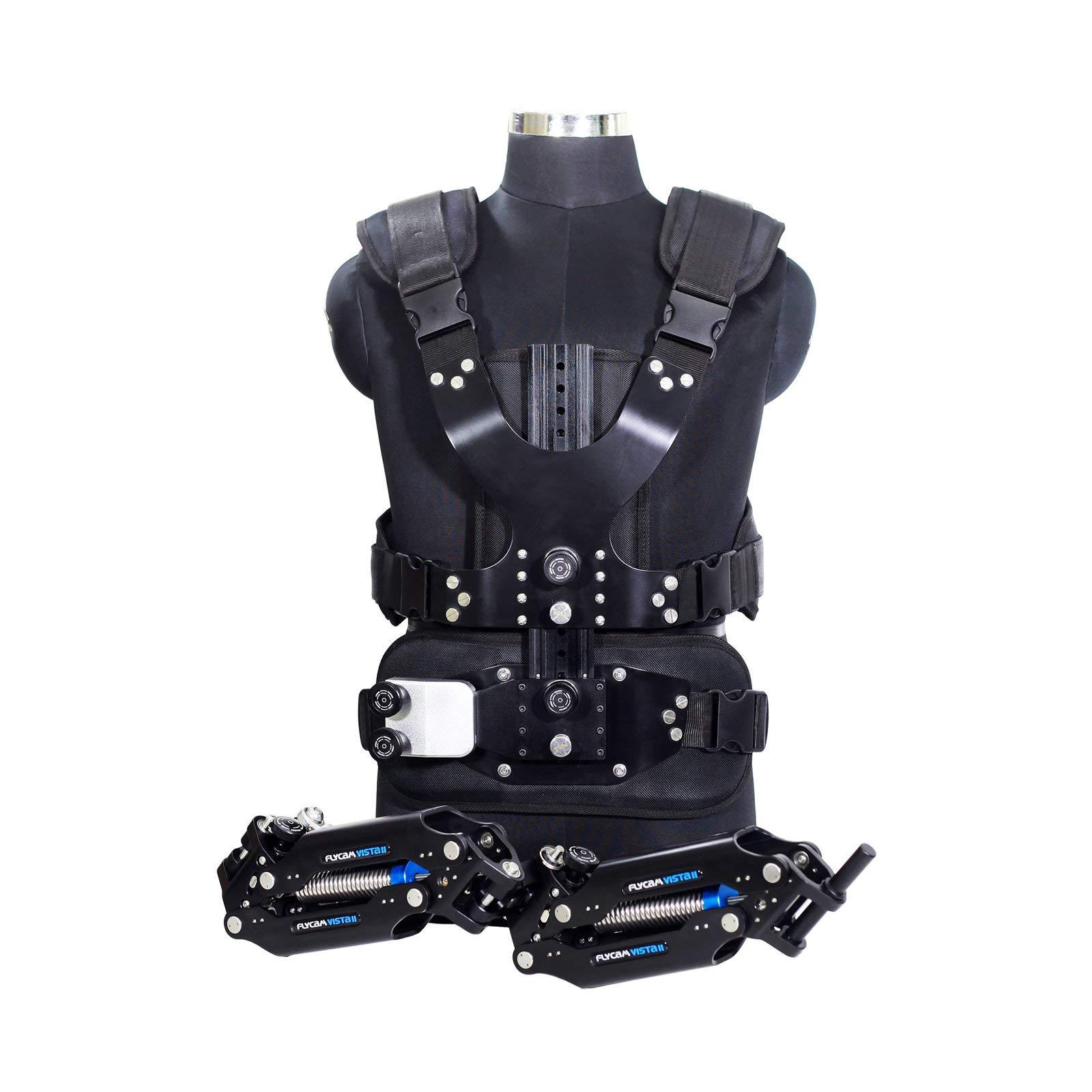 FLYCAM Vista-II Stabilizing Arm & Vest for Handheld Camera Video Steadycam Stabilizer Upto 15kg/33lbs   Professional Stabilization Body Mount System for DSLR Camera Stabilization (VSTA-II-AV) by FLYCAM