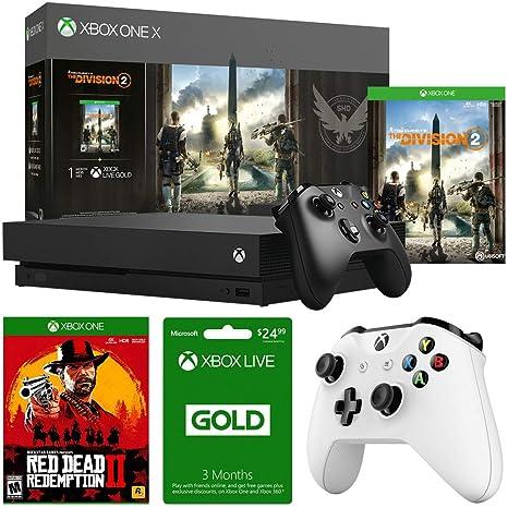 Amazon.com: Microsoft Xbox One X 1TB Console w/Tom Clancys ...