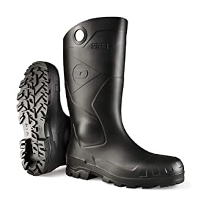 Dunlop 8677610 Chesapeake Boots with Safety Steel Toe, 100% Waterproof PVC, Lightweight and Durable Protective Footwear, Size 10