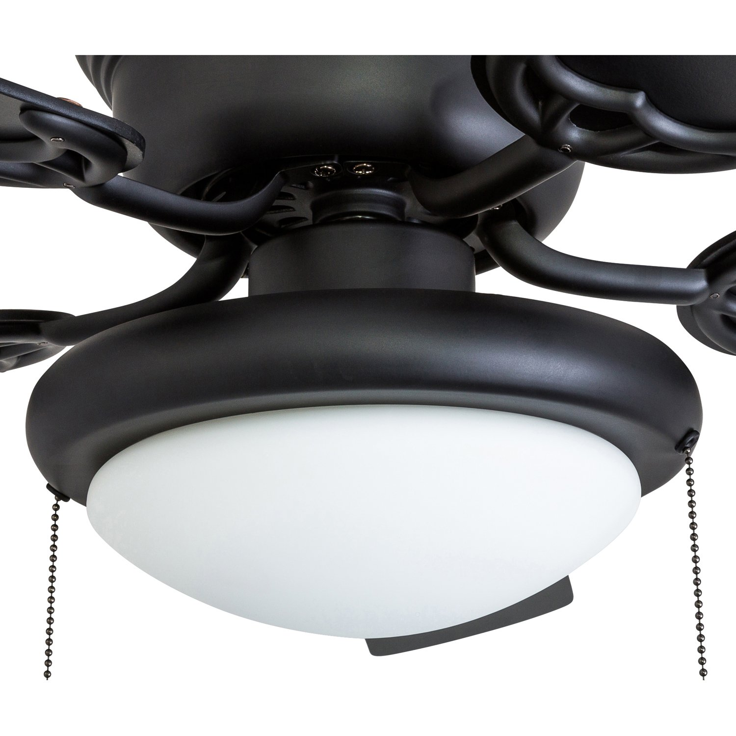 Portage Bay 50251 Hugger 52'' Matte Black West Hill Ceiling Fan with Bowl Light Kit by Portage Bay (Image #9)