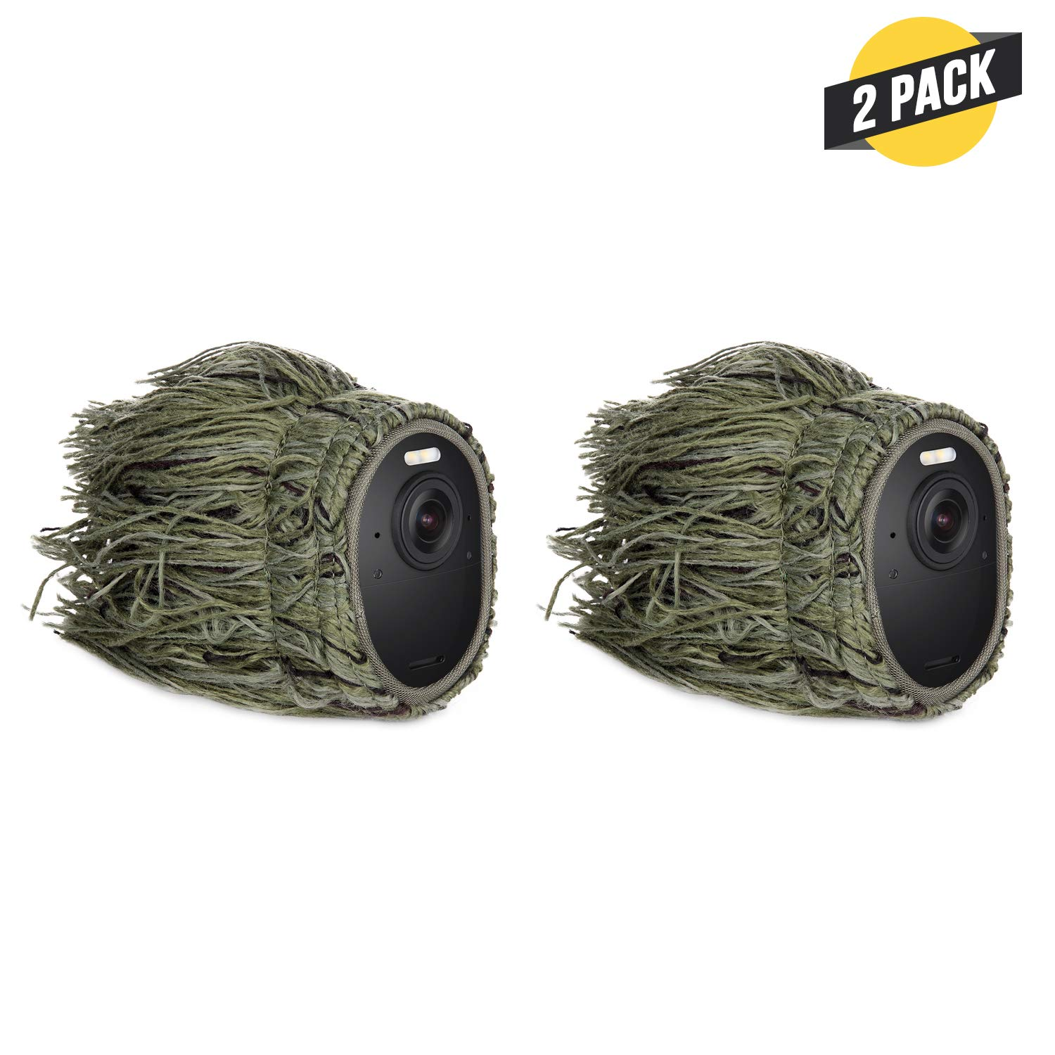 Ghillie Skin Compatible with Arlo Ultra - Conceal and Protect Your Arlo Camera (2 Pack) by Wasserstein
