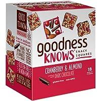 goodnessKNOWS Cranberry, Almond & Dark Chocolate Snack Squares