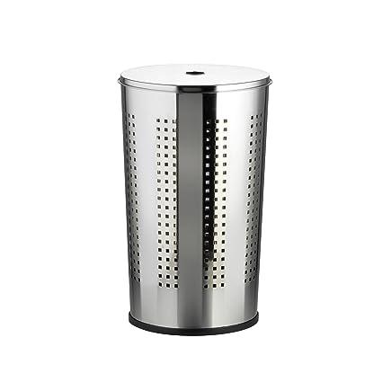 Brabantia Wasbox 50 Liter Matt Steel.Ribelli 50 Litre Laundry Bin With Lid Chromed Stainless Steel Laundry Storage Basket Bin With Ventilation Holes Round Laundry Hamper Silver
