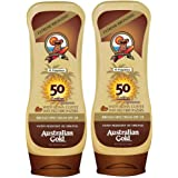 Australian Gold Broad Spectrum Moisture Max Sunscreen Lotion with Kona Bronzers, 8 Ounce (Pack of 2) (2 Pack, Spf 50)