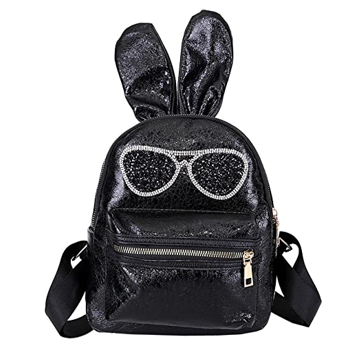 37267de2fa Image Unavailable. Image not available for. Color  Backpack Cute for School  Sequins Bunny Ears Holds 14-inch Laptop Backpacks For Girls Cheap
