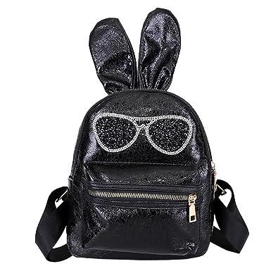 0fd0c50b0830 ALIKEEY Fashion Girls Leather Shoulder Bag Student Children School Bag  Travel Backpacks Kindergarten Rucksack Cute Animal