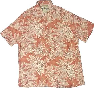 Camisa Hawaiana Vintage de Seda para Hombre - Marrón - XX-Large: Amazon.es: Ropa y accesorios