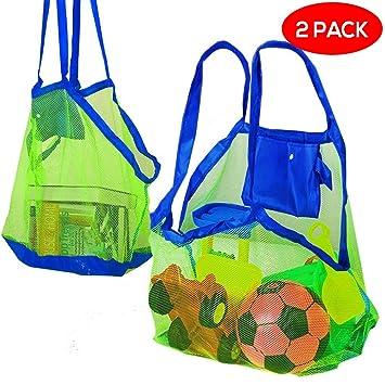 Bramble Set de 2 Bolsas de Malla para la Playa - Perfecta para Juguetes de Niños