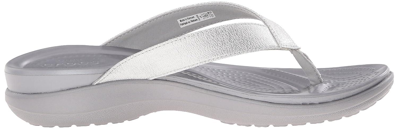 d354d90b99b6 Amazon.com  Crocs Women s Capri V Shimmer W Flip Flop  Shoes