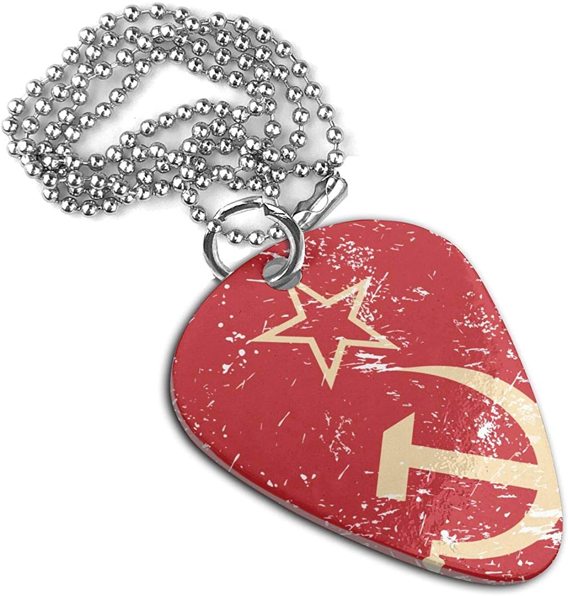 Communism Soviet Union Retro Flag Custom Guitar Pick Pendant Necklace Keychain