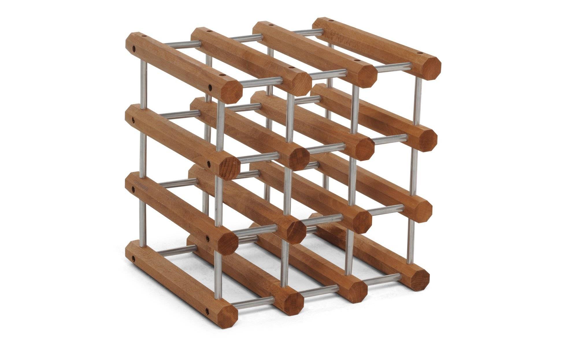 Foppapedretti Il Cantiniere Wine Rack Alluminio/Noce Alluminio/Noce