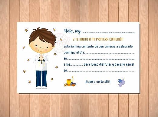 Invitaciones de Primera Comunión Niño Marinero - Muy Bonitas ...