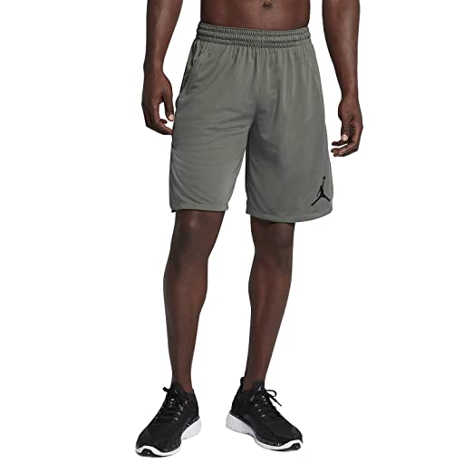 e3e8f4177f68 Nike Mens Jordan 23 Alpha Knit Basketball Shorts River Rock Black (Small)