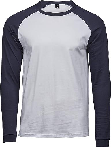 Tee Jays - Camiseta de béisbol de Manga Larga para Hombre Caballero: Amazon.es: Ropa y accesorios