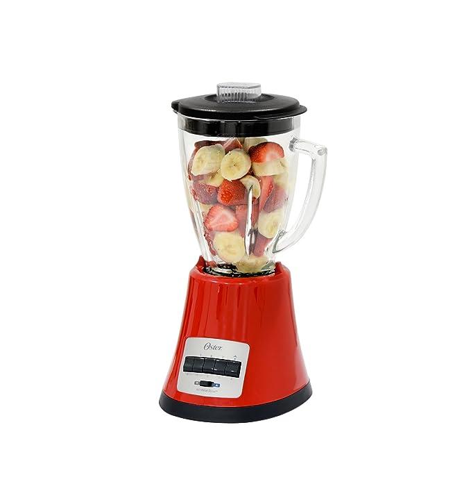 Oster OBL168X Batidora de vaso, 450 W, Vidrio, Rojo: Amazon.es: Hogar