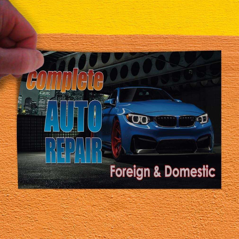 Decal Sticker Multiple Sizes Complete Auto Repair Foreign Domestic Auto Car Vehicle Automotive Complete Auto Repair Foreign Domestic Store Sign Black