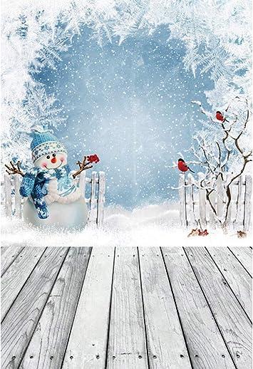 OFILA Winter Wood Snowflakes Backdrop 8x8ft Kids Winter Photos Background Rustic Winter Wonderland Christmas Party Decoration Festival Celebration Newborn Baby Portraits Digital Studio Props