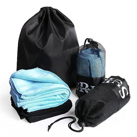 Microfibra toalla para viajar, playa, Yoga, toalla de Golf, toalla de camping, Gimnasio y natación, ...