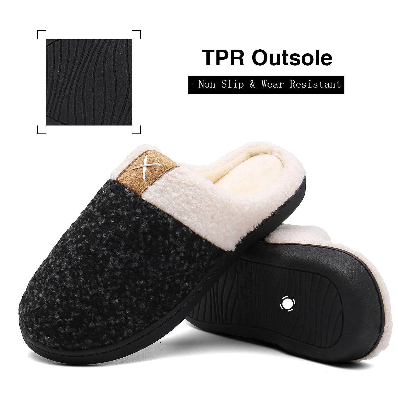 Unisex-Erwachsene Mishansha Hausschuhe Winter Warm Pantoffeln mit Memory Foam Sohle