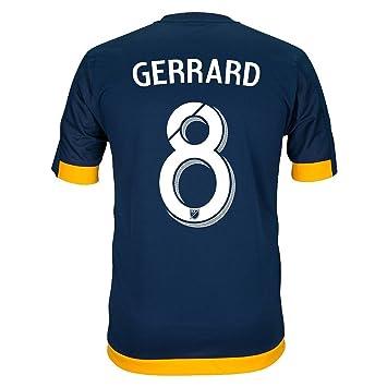 Adidas GERRARD #8 LA Galaxy Camiseta 2da Fútbol 2016 (Azul ...