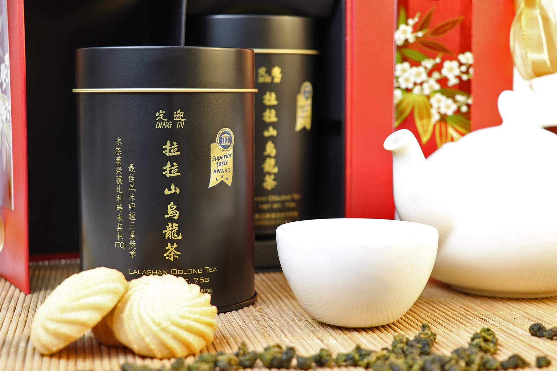 DING IN Lalashan Oolong Tea Feast Straight Gift Box 75g/2cans by Ding In ltd. (Image #4)