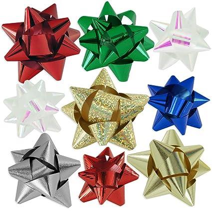 Amazon 72pc designer holiday christmas gift bow assortment 72pc designer holiday christmas gift bow assortment elegant metallic iridescent holographic glitter negle Image collections