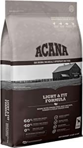 ACANA Dog Light and Fit Recipe, 13lb, Premium High-Protein, Grain-Free Dry Dog Food