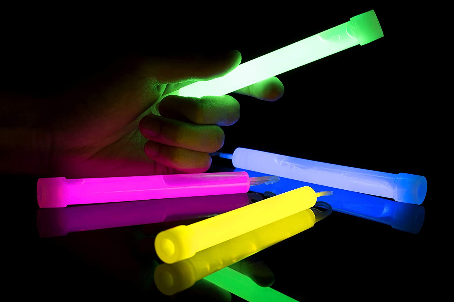 Glowsticks Bulk Pack Of 24 Industrial Grade Long Lasting Emergency 8 Light Sticks Glow In The Dark Light Sticks Premium Glow Sticks Bright Light Glows Up To 12 Hours